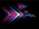 Color corners, black background vector