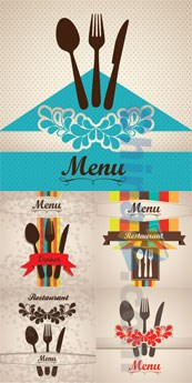 Color creative menu design vector