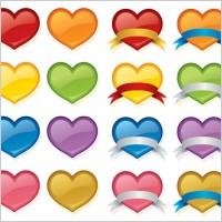 Link toColor crystal heart icon vector