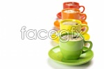 Color cups psd