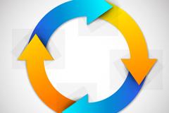 Link toColor design of the circular arrow vector