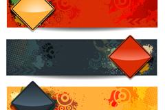 Color diamond decorative banner vector