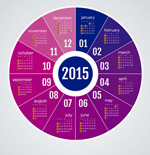 Link toColor disc calendar vector