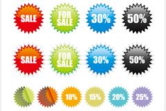 Link toColor discount sale tag vector