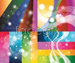 Color dots background vector