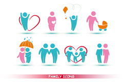 Link toColor family icon vector