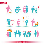 Link toColor family icons vector