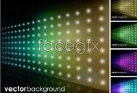 Link toColor fancy technology background vector map