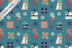 Link toColor festive gift box vector seamless background image
