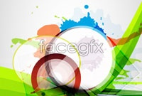 Link toColor ink flow vector background for three