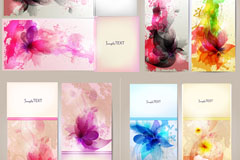 Link toColor ink flower banner vector