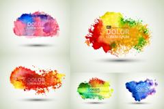 Link toColor ink-jet printing ink background vector