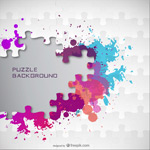Link toColor ink jigsaw puzzle vector