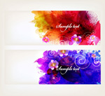Link toColor ink orchid banner vector