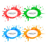 Link toColor ink tags vector
