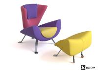 Link toColor mosaic art creative chair combination model