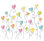 Link toColor of love flowers vector
