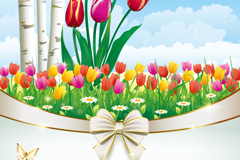 Link toColor of tulip flowers vector