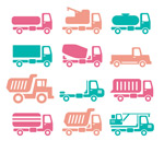 Link toColor of vehicle icons vector
