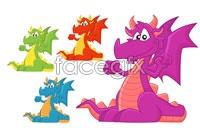 Link toColor of western cartoon dragon vector