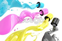 Color paint buckets tipping over hd pictures
