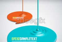 Link toColor paints ripples vector
