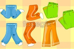 Link toColor pants cartoon vector