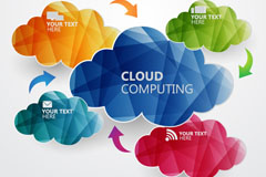 Link toColor paper-cut cloud background vector