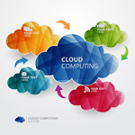 Link toColor paper-cut cloud vector