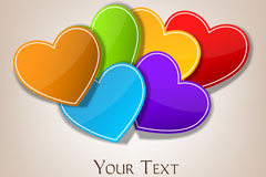 Link toColor paper-cut love background vector