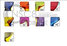 Color pattern software desktop icons