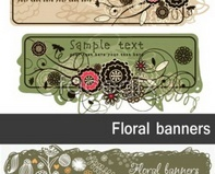 Link tovector banners plants Color