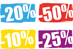 Link toColor printing discount sales vector