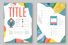 Link toColor product brochure vector