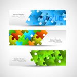Link toColor puzzle banner vector