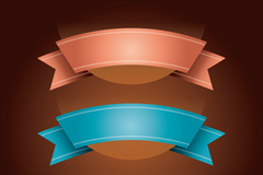 Link toColor ribbon design vector