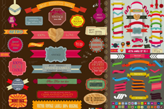 Link toColor ribbon tags design vector