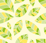 Link toColor seamless leaves background vector