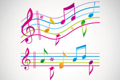 Link toColor sheet music and notes vector
