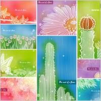 Link toColor soft floral background vector 2 9p