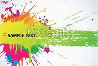 Color splash ink background vector