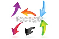 Link toColor stereo arrow vector graphics