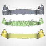Link tovector banner paper torn Color