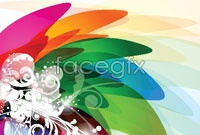 Link toColor trend vector background for five
