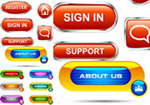 Link toColor web buttons vector