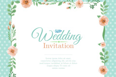Link toColor wedding invitation cards the flower border vectors