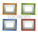 Color wood photo frame vector