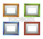 Link toColor wood photo frame vector