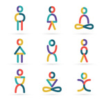 Link toColor yoga people logo vector