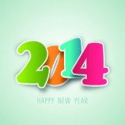 Link toColored 2014 design vector background set 05